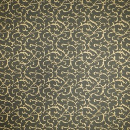 Jacquard strik med snirkel-mønster i mørk army og guld-look-20