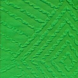 Strik med stribe/rude mønster i grøn-20