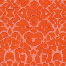 Strik med mønster i orange og hvid-20