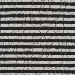 Stribet strik i sort og hvid med mønster-20
