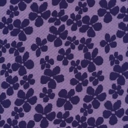 Jacquard strik med blomster i lys lilla og mørkelilla-20