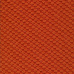 Jacquard strik med prikker i orange-20