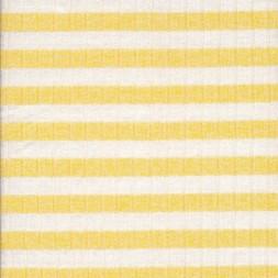 Ribstrikket meleret strik stribet i lys gul og hvid-20