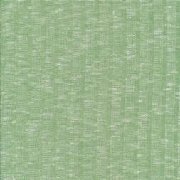 Ribstrikket meleret strik i lysegrøn og hvid-20