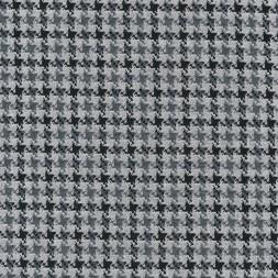Strik med hanefjeds mønster i lysegrå, grå og sort-20