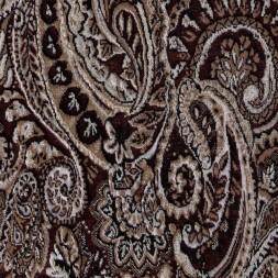Jacquard strik med mønster i brun beige og guld-20