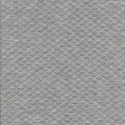Stof i quiltet strik jersey i lysegrå meleret
