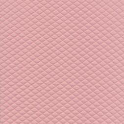Stof i quiltet strik jersey i rosa