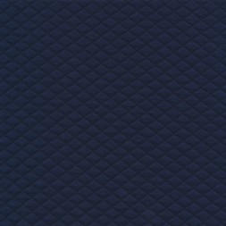 Stof i quiltet strik jersey i marine