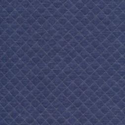 Quiltet strik-jersey, meleret denimblå-20