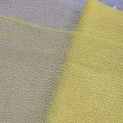 Brudetyl i carry-gul med små glimmer prikker-20