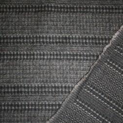 Stribet uld sort/grå-brun-20
