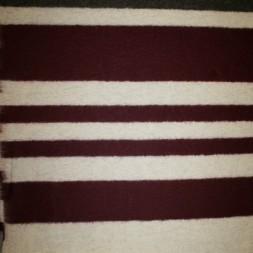 Bred-stribet uld, bordeaux/off-white/brun-20