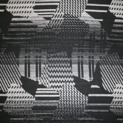 Mønstret uld sort/grå/off-white-20