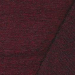 Filtet uld/strik, meleret mørk rød/grå-20