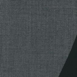 Dobbel uld m/hanefjed grå/sort-20