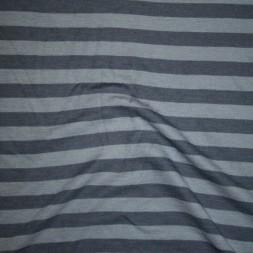 Ribstrikket jacquard uld stribet i denimblå og lys denim-20