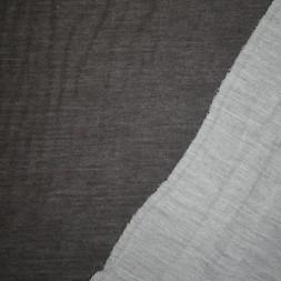 Ribstrikket jacquard uld 2-sidet mørkegrå og lysegrå-20