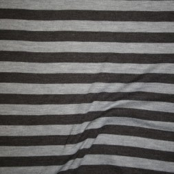 Ribstrikket jacquard uld stribet i mørkegrå og lysegrå-20