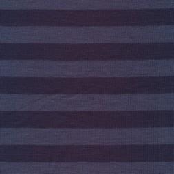 Ribstrikket uld/polyester stribet denim og støvet blå-20