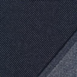 Tweed let mønstret i mørkeblå og lysegrå-20