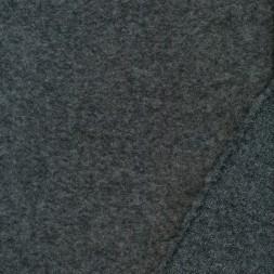 Filtet uld-strik i grå meleret-20
