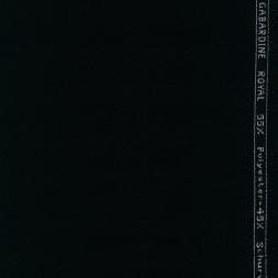 Twill-vævet uld-garbardine i sort-20