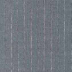 Uld/polyester m/stræk i lysegrå meleret med lyserød-20