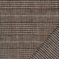 2-sidet uld/polyester i tern og hanefjed i brun og beige-20