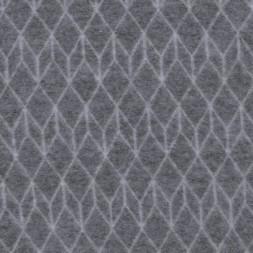 Uld fleece i grå med grafisk mønster-20