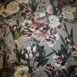 Velour med præget læder-look og blomster-20