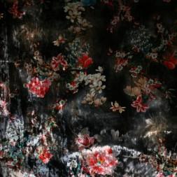 Velour med blomster grå rød off-white-20