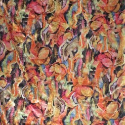 Rest Spantex Velour mønstret i gylden orange og koral, 35-44 cm.-20