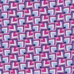 Rest 100% viscose m/firkanter mønster lyseblå/hvid/pink-45 cm.-20