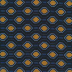 100% viscose med mønster i carry gul, marine, blå-20