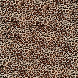 100% viscose med leopard-print i beige, sort og brun-20