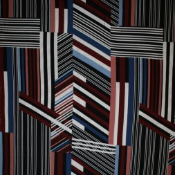 100% viskose med stribe-mønster i sort rosa blå-20