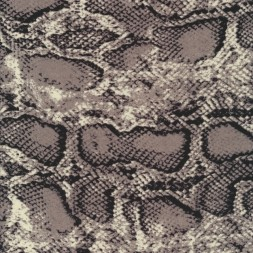 100% viskose med slange print i grå sort kit-20