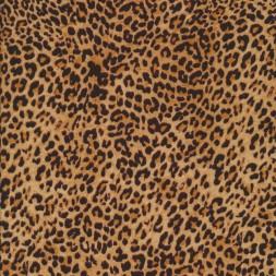 Let 100% viscose med leopard-print i gylden og sort-20