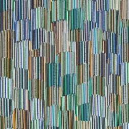 Let 100% viscose mønstret i aqua blå brændt orange irgrøn-20