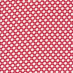 Let 100% viscose med prikker i rød hvid lyserød-20
