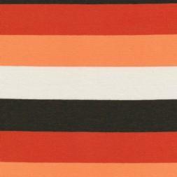 Viscose/elasthan bred-stribet brun/orange/off-white-20