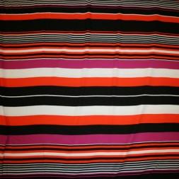 Rest Viscose/lycra m/striber pink/orange/sort/hvid 50 cm.-20