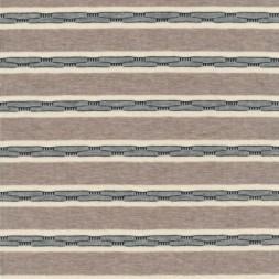 Rest Viscose/lycra m/striber pudder-brun/off-white/grå, 50 cm.-20