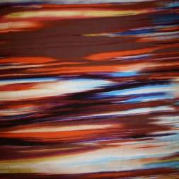 Rest Viscose/lycra m/difuse striber orange/bordeaux/blå, 40 cm-20