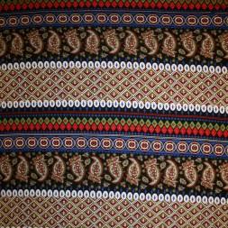 Viscose/lycra m/striber/mønster koboltblå/rød/sort-20