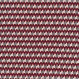 Små-mønstret viscose jersey grå lys grå koral-20