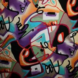 Rest Viskose jersey med graffiti-look multifarvet, 25-33 cm.-20
