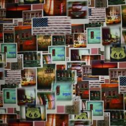 Modal/bomuldsjersey m/digitalt print, foto USA-20