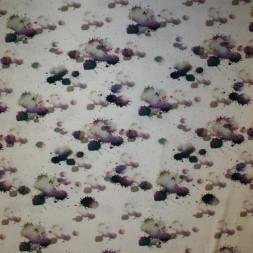 Viscose/lycra m/digitalt print i knækket hvid med farve-klatter-20